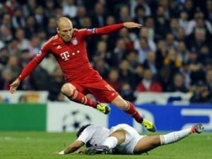 """Футболисты """"Баварии"""" по сумме двух игр вырвали победу у """"Реала"""" и будут играть в финале Лиги чемпионов с """"Челси"""", который состоится 19 мая в Мюнхене"""