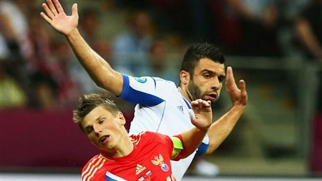 Сборная России проиграла сборной Греции со счетом 1:0