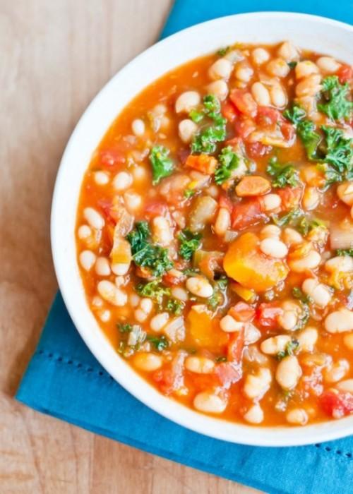 Овощной суп с белыми бобами