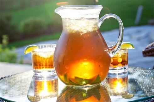Прохладный несладкий чай